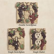 Tuscan Decorative Wall Plates by Switch Plates For Your Wine Grape Theme Food Drinks Wine Love