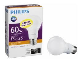 4 pack philips 800 lumen 60w led light bulb 60w for 3 99