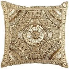 calico gold beaded medallion pillow pier 1 get up to 8 6
