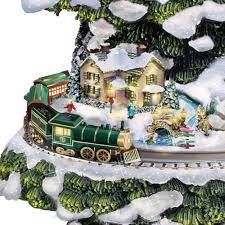 Christmas Tree Shops York Pa Hours by The Thomas Kinkade Animated Christmas Tree Hammacher Schlemmer