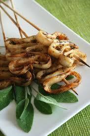 sauge cuisine recettes brochettes de calamars à la sauge et piment recettes minceur