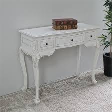 Antique White Hand Carved Vanity Desk 3979 AW