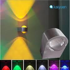 großhandel moderne 5 farben led 2 watt wandleuchten dekor leuchte lichter persönlichkeit wandleuchten flur wohnzimmer hintergrund licht halle veranda