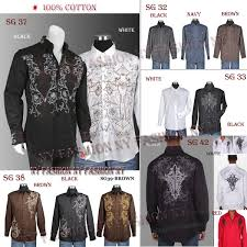 men u0027s stylish casual embroidered fashion dress shirt size m l xl