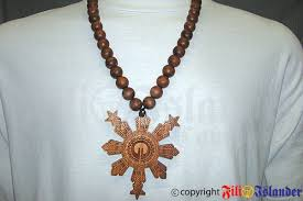 Filipino Tribal Tattoo Sun Star Necklace