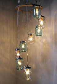 Mason Jar Light Fixture Kitchen