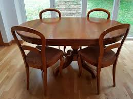 Grange Solid Cherry Wood Dining Table And 6 Chairs In Room Set For