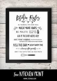 Free Printable Kitchen Signs