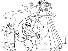 Queen Elsa Make Olaf From Snow Coloring Pages Sky