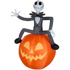 Halloween Yard Inflatables 2015 by Airblown Nightmare Before Christmas Jack On Pumpkin Lg Disney 6