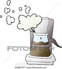 Clip Art Of Cartoon Drip Filter Coffee Maker K34851077