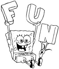 Fun Sponge Bob Coloring Pages