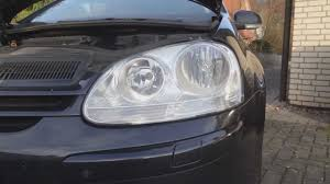 how to change replace a headlight bulb on vw golf v hd
