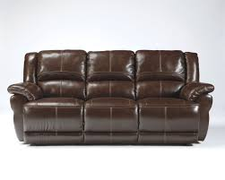 Ashley Furniture Hogan Reclining Sofa by Lenoris Coffee Leather Reclining Power Sofa The Classy Home