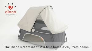 Peapod Plus Baby Travel Bed by Diono Dreamliner Travel Bed Youtube