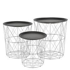 details zu en casa metallkorb beistelltisch couchtisch sofatisch 3er set deko design korb