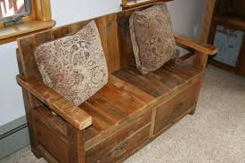 Barn Wood Bench With Back Barn Wood Furniture