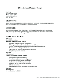 Executive Sales Resume Office Administrator Sample Job Resumes Examples Insurance Example