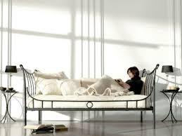 canapé lit fer forgé banquette nuria en fer forgé haut de gamme meuble pour la chambre