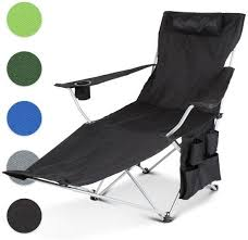 Sport Brella Chair Recliner by Black Portable Steel Frame Recliner Camping Chair Outdoor Fishing