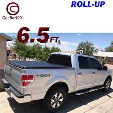 For 1999-2015 Ford F-150 Roll-up Soft Solid Bed Tonneau Cover 6.5ft ... Lund Intertional Products Tonneau Covers Ctc Tonneau Brandfx Gemtop Truck Cover Steel Topper Cap Jackrabbit Bed Covers Pickup Trucks 101 How To Choose The Right Carmudi Switchblade Easy Install Remove Usa Crt303xb American Xbox Work Tool Box Lomax Hard Tri Fold Folding Duck Weather Defender Fits Standard Cab