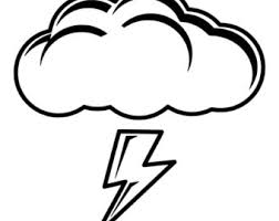Lightning Storm Cloud Die Cut Decal Car Window Wall Bumper Phone Laptop