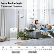 aiibot luftreiniger air purifier mit 4 stufen filterung hepa filter aktivkohlefilter 99 97 filterleistung timer ionisator gegen staub gerüche