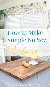 Kitchen Curtain Valance Styles by Best 25 No Sew Valance Ideas On Pinterest Bathroom Valance