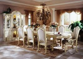 European Dining Room Furniture White Classic Elegant Design Ideas With Antique Lighting Hanging And Cupboard Best