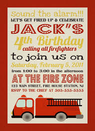 Firefighter Fire Truck Birthday Invitation | Birthday Party ...