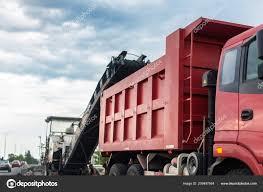 100 Pink Dump Truck Road Construction Site Asphalt Milling Grinds Machine Loading Used
