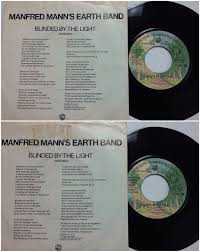 Manfred Mann Blinded By The Light Records LPs Vinyl and CDs