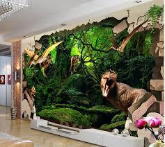 3d Room Wallpaper Custom Mural Non Woven Wall Sticker 3 D Ancient Dinosaur Broken