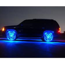 Wheel Well LED Lights Blue Car Truck Kit 4 Bright LED Strip Fender