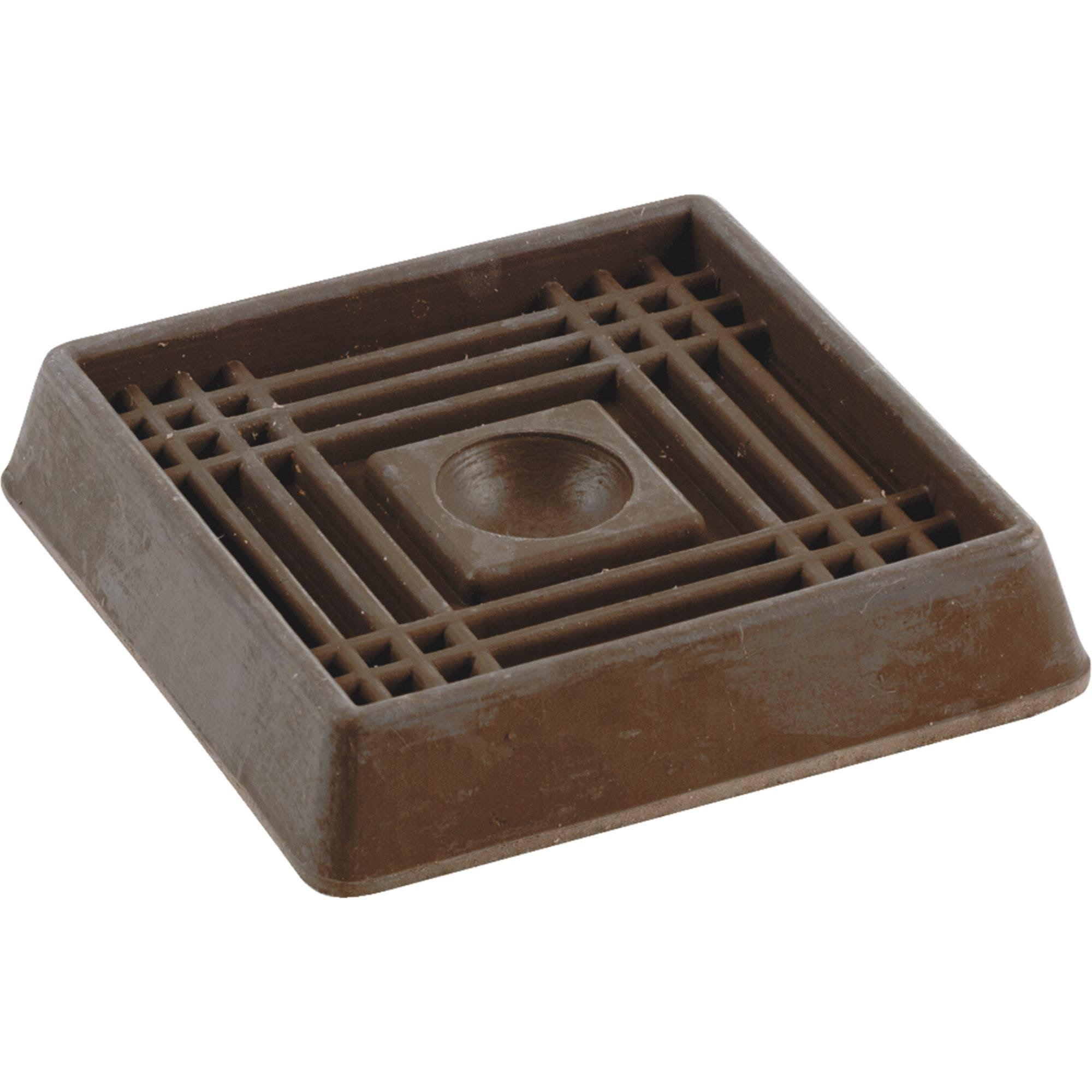 "Shepherd Hardware Caster Cup - 2"", Brown, Square"