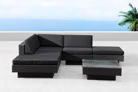 tables de jardin en resine salon de jardin d angle en résine tressée noir amorgos