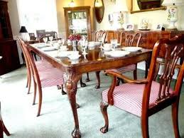Antique Carved Mahogany Chippendale Inlaid Dining Room Set W 6 Chairs Ebay On