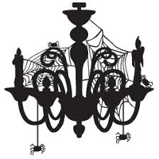 Creepy Chandelier Wall Decal