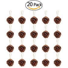 Pine Cone Christmas Tree Centerpiece by Amazon Com Nicexmas 20pcs 4 6cm Christmas Pine Cones Pendant With