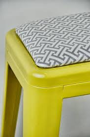 Tolix Seat Cushions Australia by Custom Upholstered Tolix Style Stool Cushion In The Fabric
