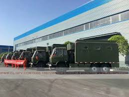 100 Green Food Truck 6 Units Dongfeng Food Truck For Military Department