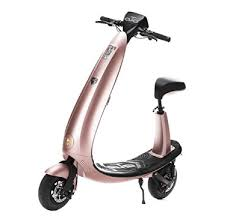 OjO Foldable Electric Scooter For Adults Eco Friendly Smart Rose Gold