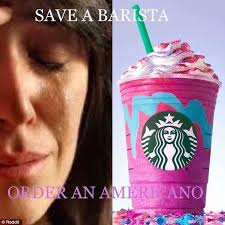 Starbucks Baristas Are Not All Thrilled About The Unicorn Frappuccino