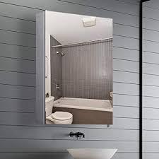 qiyang 400 x 600 x 120 mm badezimmerspiegelschrank badezimmerschrank hängend hängeschrank badezimmer medizinschrank edelstahl metall hängeschrank