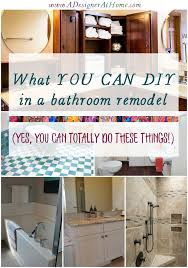 what you can DIY in a bathroom remodel the no experience list Yes