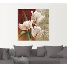 artland wandbild französische tulpencollage blumen 1 st in vielen größen produktarten alubild outdoorbild für den außenbereich