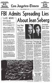 J Edgar Hoover Cross Dresser by White Actress Jean Seberg Was Ruined By The Fbi Because They
