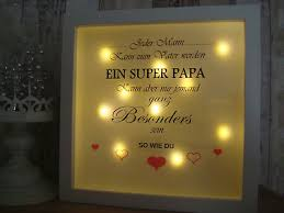 led bild beleuchtet papa geschenke deko familie wohnzimmer