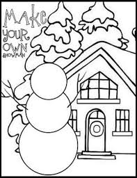 Winter Coloring Pages Preschool Items