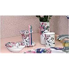Japanese Cherry Blossom Bathroom Set by Pretty Cherry Blossom Shower Curtain